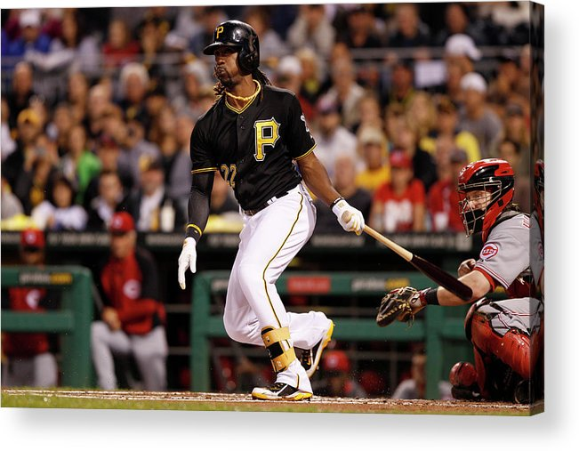 Pnc Park Acrylic Print featuring the photograph Andrew Mccutchen by David Maxwell