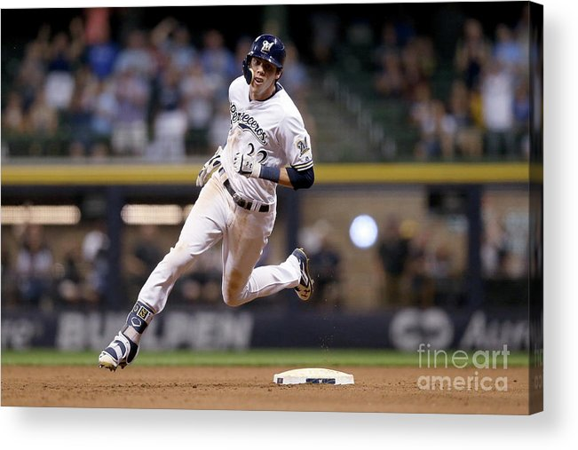 People Acrylic Print featuring the photograph Christian Yelich by Dylan Buell