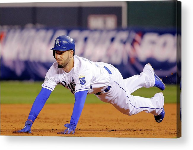 Second Inning Acrylic Print featuring the photograph Eric Hosmer by Doug Pensinger