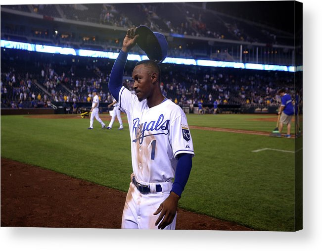 Crowd Acrylic Print featuring the photograph Jarrod Dyson by Ed Zurga