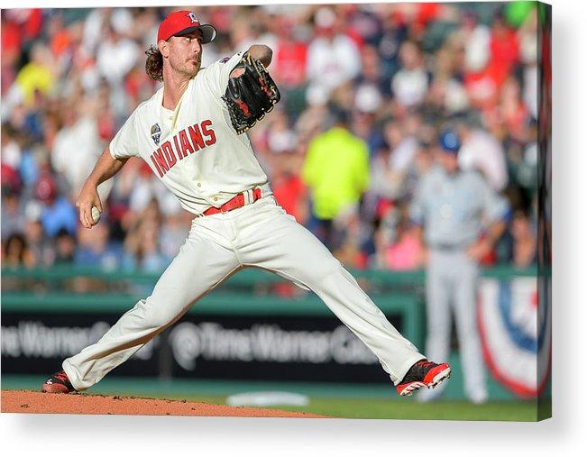American League Baseball Acrylic Print featuring the photograph Josh Tomlin by Jason Miller