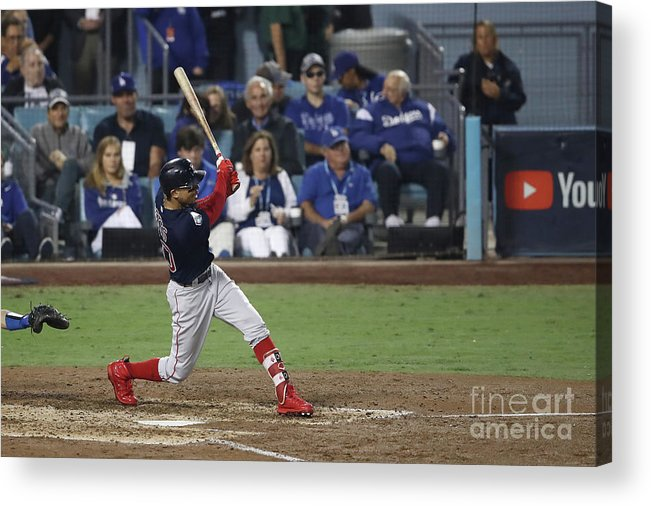 People Acrylic Print featuring the photograph Mookie Betts by Ezra Shaw