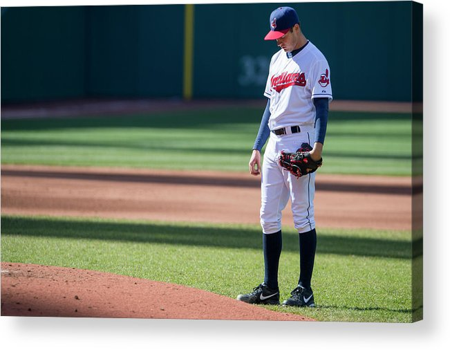 American League Baseball Acrylic Print featuring the photograph Trevor Bauer by Jason Miller