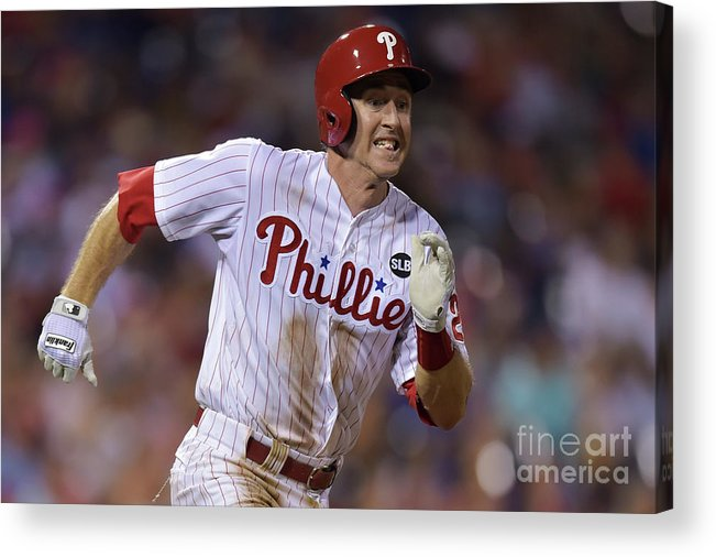 Three Quarter Length Acrylic Print featuring the photograph Chase Utley by Drew Hallowell