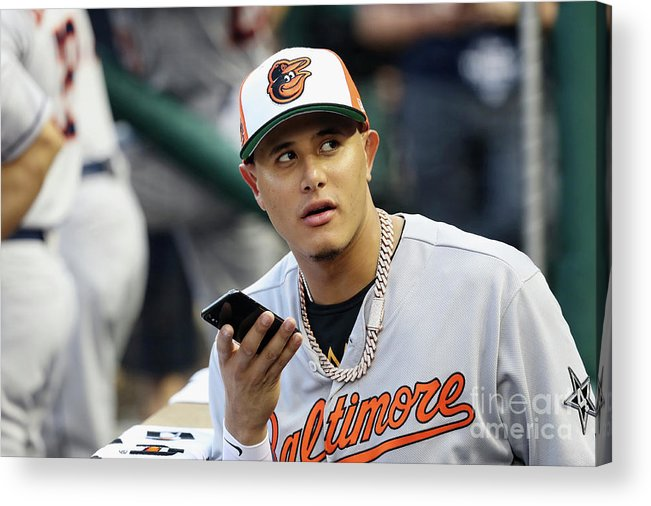 People Acrylic Print featuring the photograph Manny Machado by Rob Carr