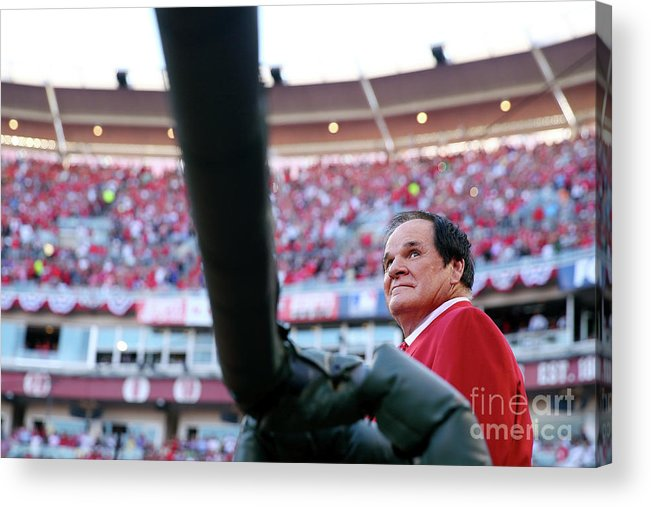 Great American Ball Park Acrylic Print featuring the photograph Pete Rose by Elsa