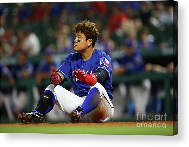 Ninth Inning Acrylic Print featuring the photograph Shin-soo Choo by Rick Yeatts