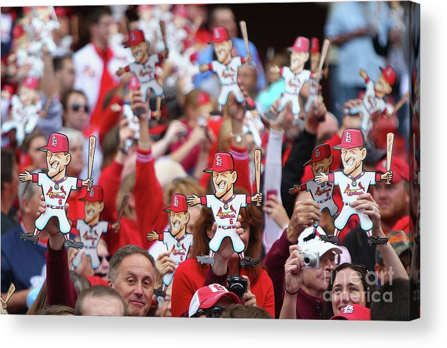 St. Louis Cardinals Acrylic Print featuring the photograph Stan Musial by Dilip Vishwanat