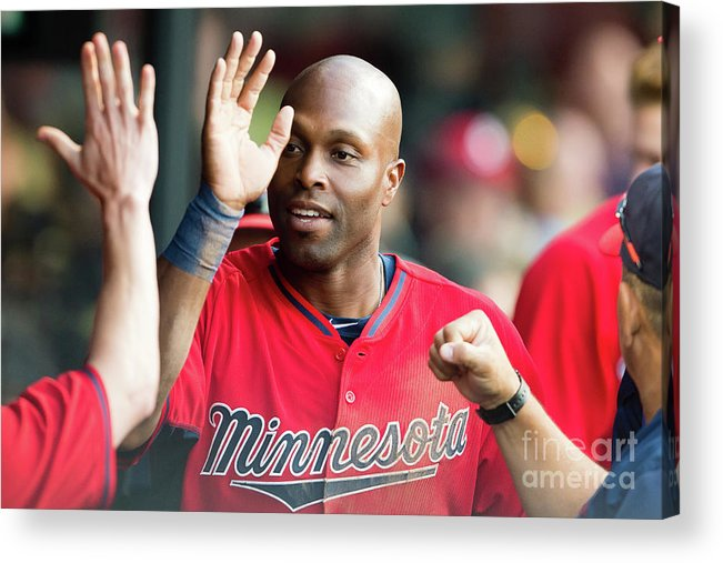 People Acrylic Print featuring the photograph Torii Hunter by Jason Miller
