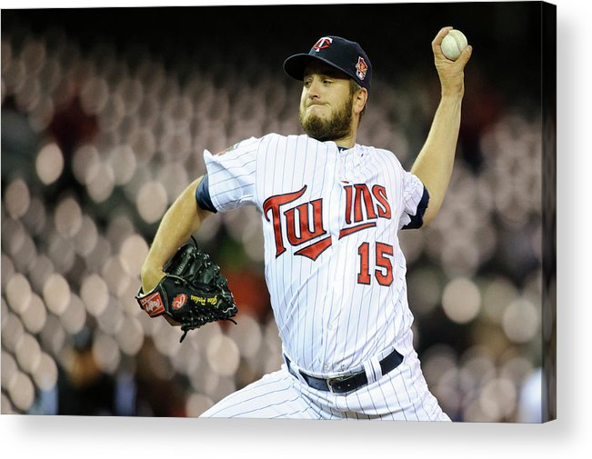 Game Two Acrylic Print featuring the photograph Glen Perkins by Hannah Foslien
