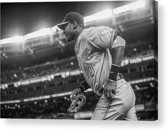 American League Baseball Acrylic Print featuring the photograph Adam Jones by Rob Tringali