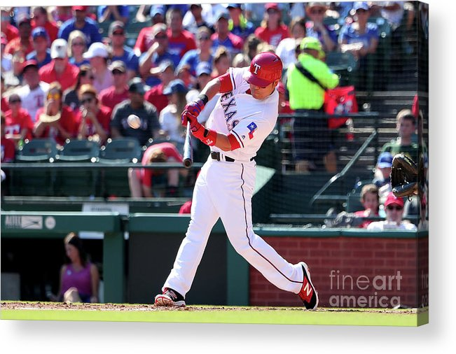 People Acrylic Print featuring the photograph Shin-soo Choo by Tom Pennington