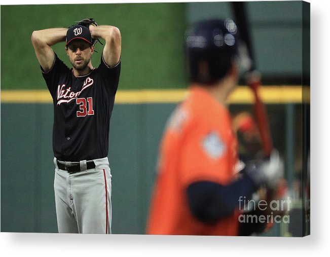 People Acrylic Print featuring the photograph Max Scherzer by Mike Ehrmann