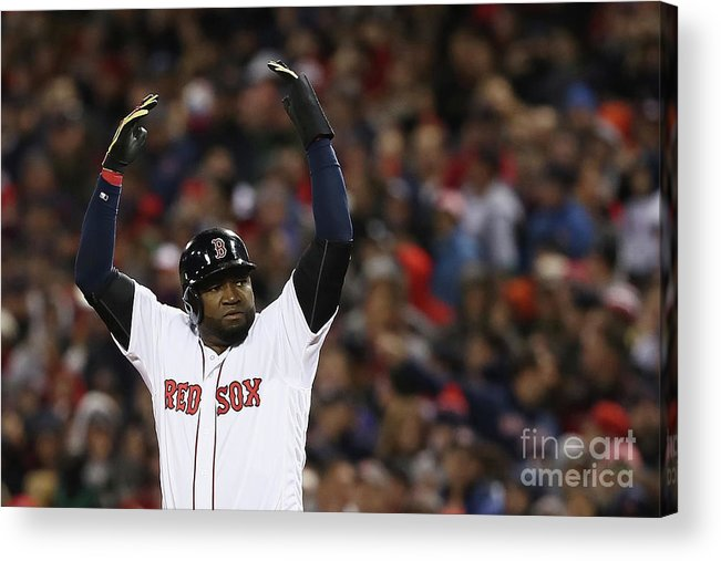 Crowd Acrylic Print featuring the photograph David Ortiz by Elsa
