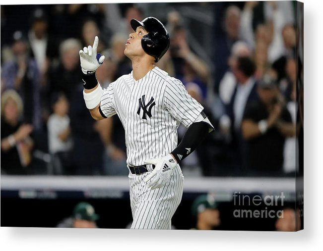 Playoffs Acrylic Print featuring the photograph Aaron Judge And Liam Hendriks by Elsa