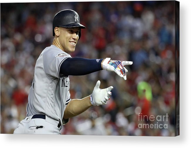 Second Inning Acrylic Print featuring the photograph Aaron Judge by Rob Carr