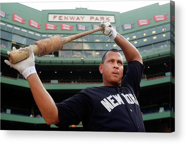 People Acrylic Print featuring the photograph Alex Rodriguez by Adam Glanzman