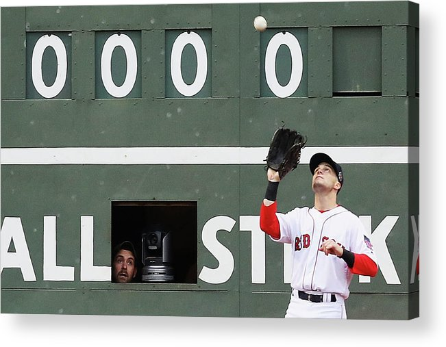 People Acrylic Print featuring the photograph Andrew Benintendi And Josh Donaldson by Maddie Meyer