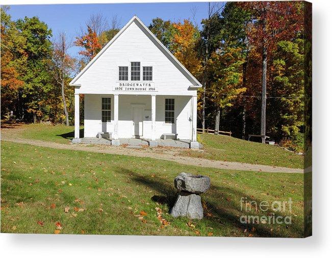 New England Acrylic Print featuring the photograph Bridgewater Meetinghouse - Bridgewater New Hampshire by Erin Paul Donovan