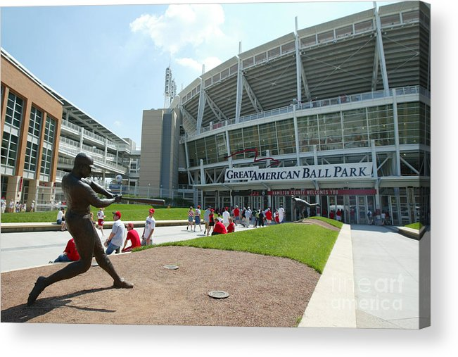 Great American Ball Park Acrylic Print featuring the photograph Frank Robinson by Andy Lyons