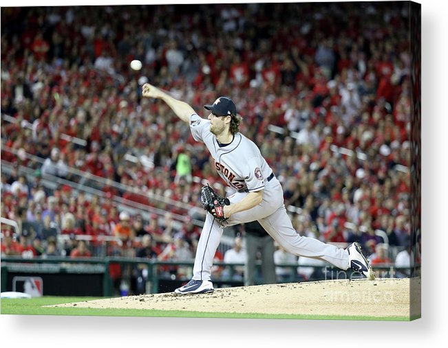 American League Baseball Acrylic Print featuring the photograph Gerrit Cole by Rob Carr