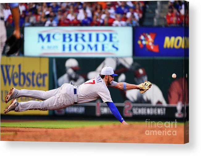 People Acrylic Print featuring the photograph Jack Flaherty And Kris Bryant by Jeff Curry