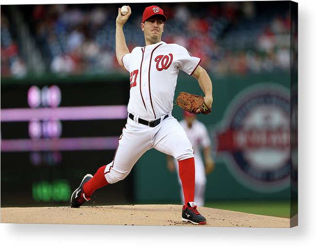 Working Acrylic Print featuring the photograph Jordan Zimmermann by Patrick Smith