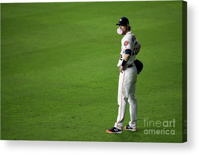 American League Baseball Acrylic Print featuring the photograph Josh Reddick by Cooper Neill