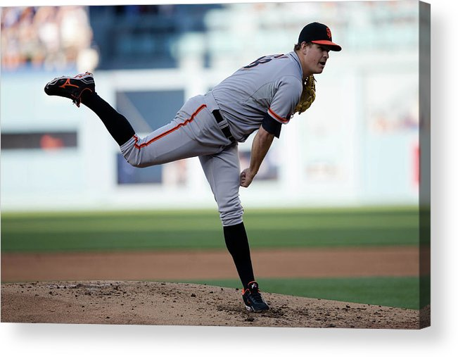 California Acrylic Print featuring the photograph Matt Cain by Paul Spinelli