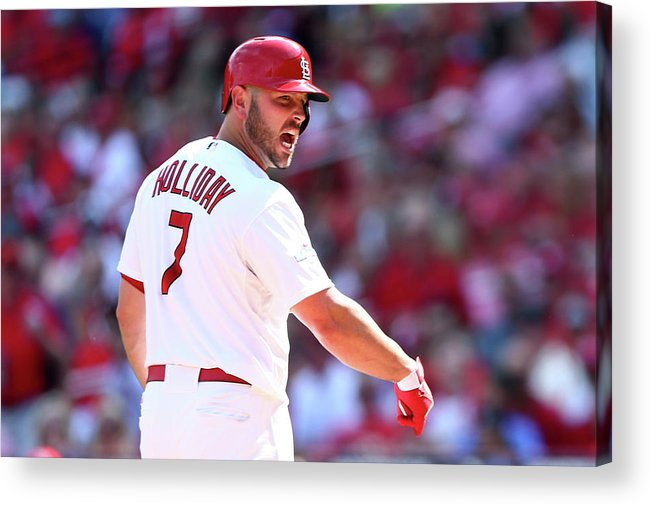 St. Louis Cardinals Acrylic Print featuring the photograph Matt Holliday by Elsa