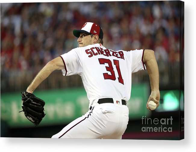 Three Quarter Length Acrylic Print featuring the photograph Max Scherzer by Patrick Smith