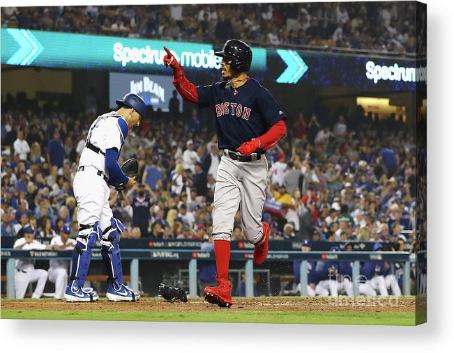 People Acrylic Print featuring the photograph Mookie Betts by Sean M. Haffey