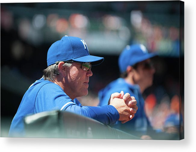 American League Baseball Acrylic Print featuring the photograph Ned Yost by Rob Tringali