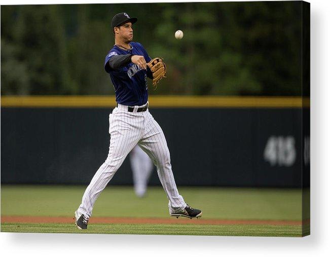 National League Baseball Acrylic Print featuring the photograph Nolan Arenado by Justin Edmonds