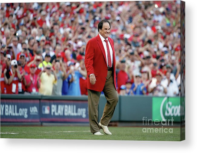 Great American Ball Park Acrylic Print featuring the photograph Pete Rose by Rob Carr