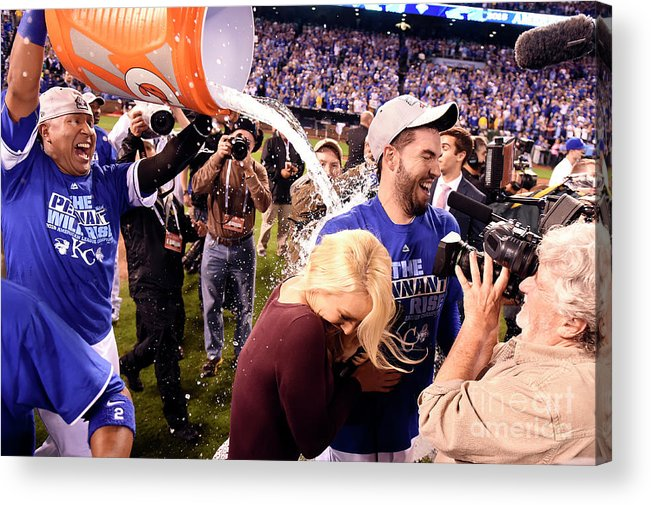 Playoffs Acrylic Print featuring the photograph Salvador Perez by Lg Patterson