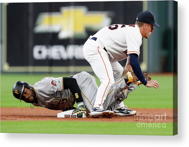 People Acrylic Print featuring the photograph Starling Marte by Tim Warner