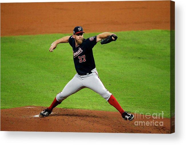 American League Baseball Acrylic Print featuring the photograph Stephen Strasburg by Bob Levey