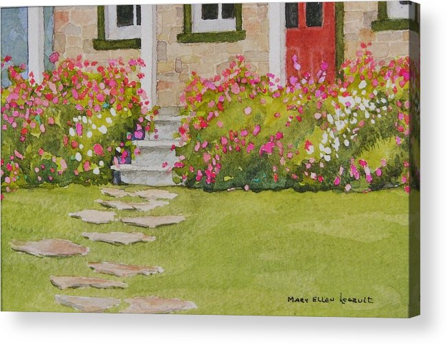 Garden Acrylic Print featuring the painting Summer Glory by Mary Ellen Mueller Legault