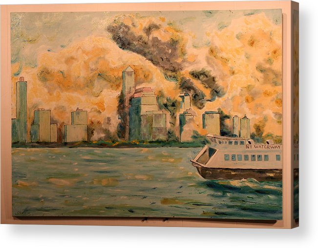 Acrylic Print featuring the painting 9112001 by Biagio Civale