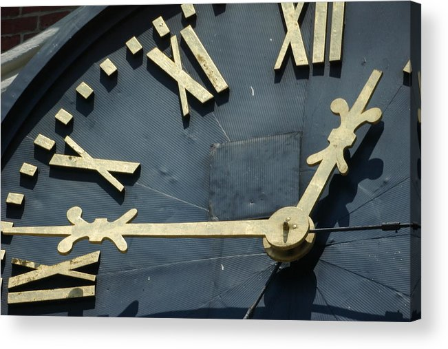 Clock Acrylic Print featuring the photograph About Time by Eric Workman
