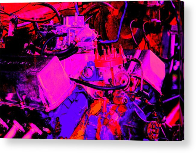 Engine Acrylic Print featuring the digital art Engine by Lisa Johnston