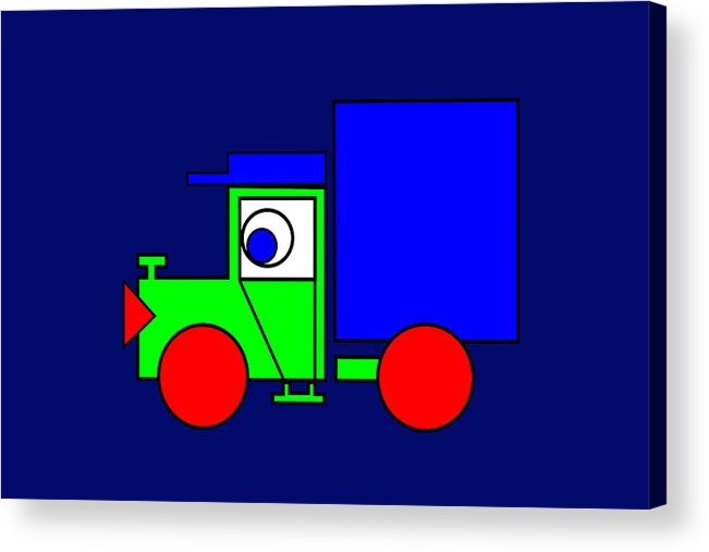 Joe The Truck Acrylic Print featuring the digital art Joe The Truck by Asbjorn Lonvig