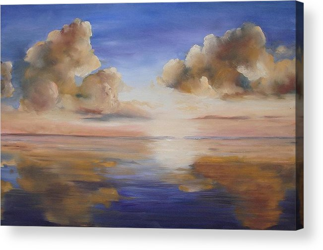 Landscape Acrylic Print featuring the painting Sunrise On The Rio Grande by Maxine Ouellet