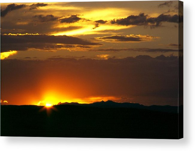 Landscape Acrylic Print featuring the photograph Two Peaks Sunset by Lynard Stroud