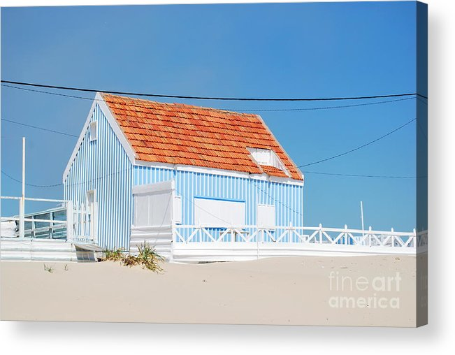 Architecture Acrylic Print featuring the photograph Blue Fisherman House by Luis Alvarenga