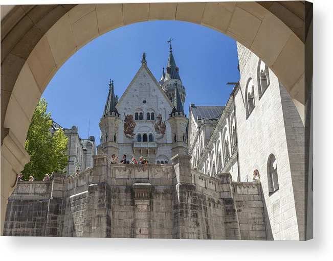 Neuschwanstein Acrylic Print featuring the photograph Neuschwanstein by Radka Linkova