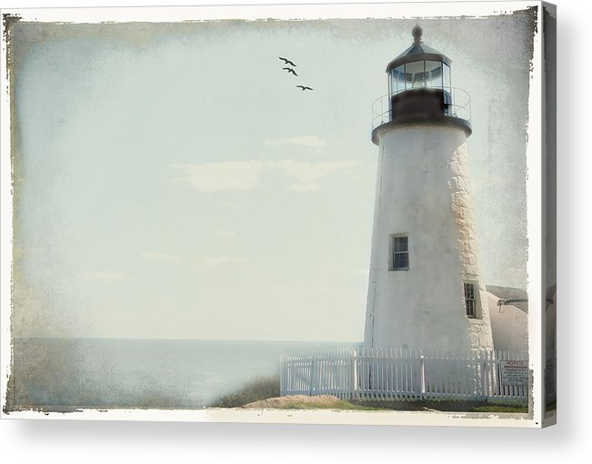 Lighthouse Acrylic Print featuring the photograph The Guardian by Cathy Kovarik