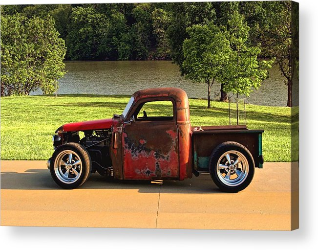 1950 Acrylic Print featuring the photograph 1950 Chevrolet Stubby Pickup Truck by Tim McCullough
