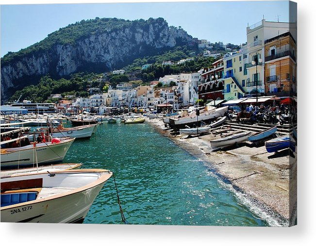 Capri Acrylic Print featuring the photograph Arrival To Capri by Dany Lison